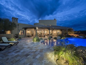 custom built pool and backyard in arizona