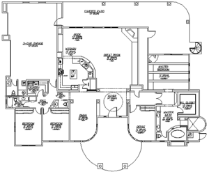 luxury custom home building floor plan