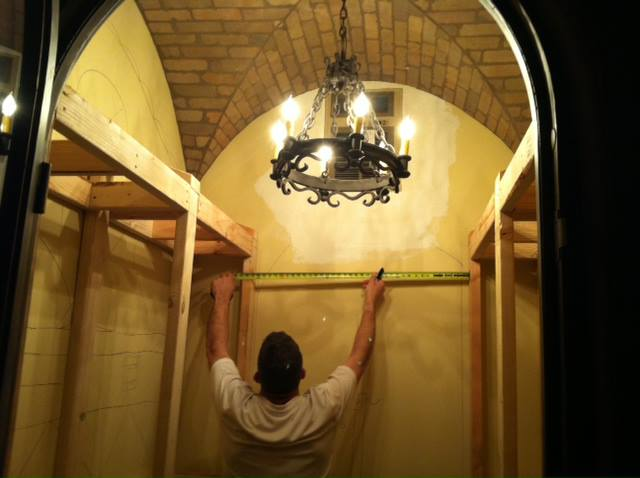 wine room construction scottsdale