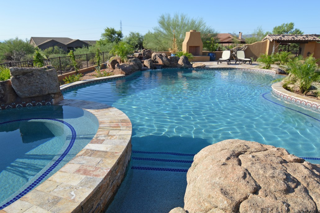 Custom swimming pool construction in scottsdale arizona for Custom indoor pools