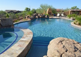 Beautiful home remodel scottsdale arizona for Pool builders in az