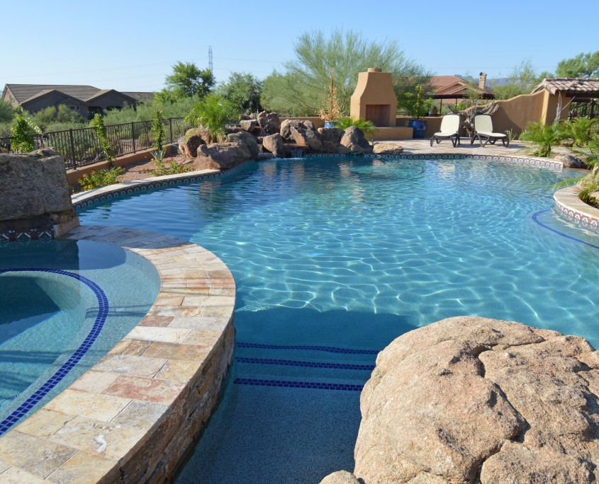 Custom swimming pool construction in scottsdale arizona for Pool builders in az