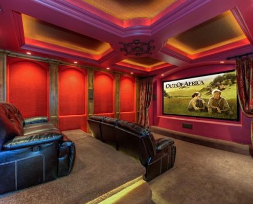 building a custom home media room