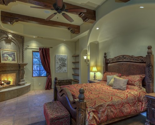 custom home master bedroom design
