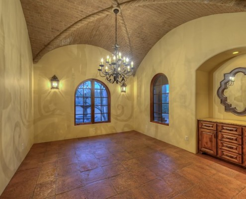 luxury custom built dining room scottsdale arizona