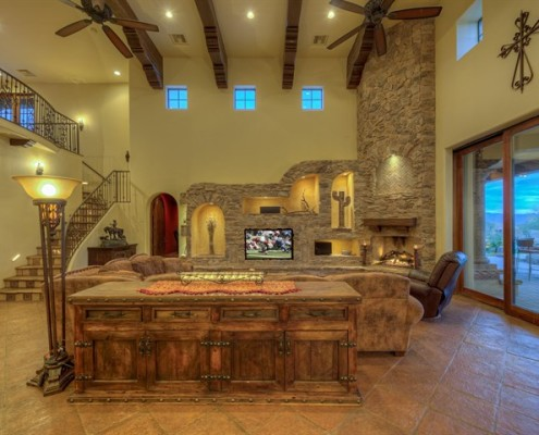 luxury custom built family room
