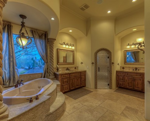 luxury custom master bathroom contractors scottsdale