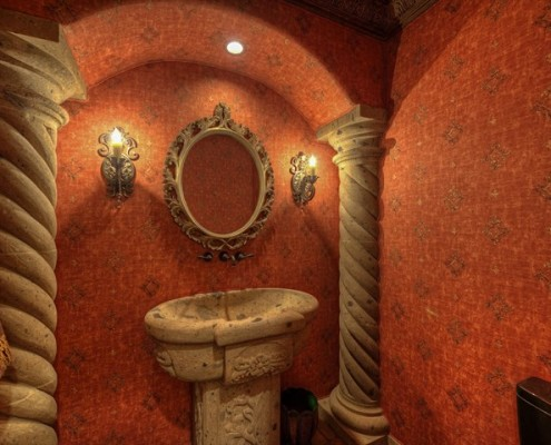 luxury scottsdale powder room design