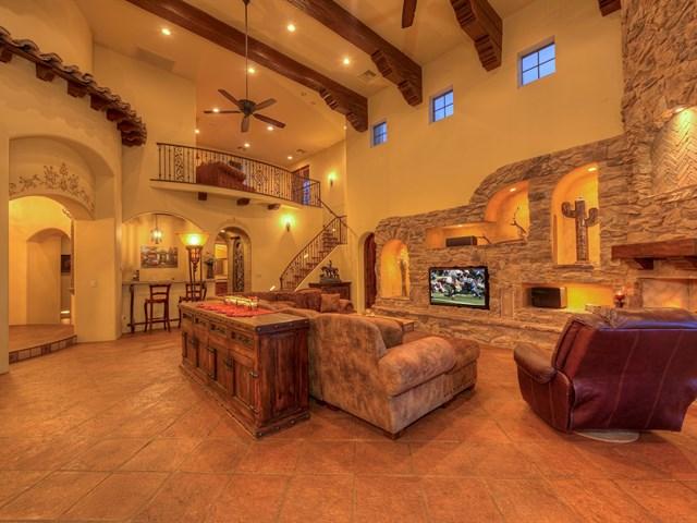 scottsdale luxury family room with loft  Luxury Custom Home Construction in Scottsdale Arizona. Luxury Lighting Az. Home Design Ideas