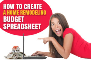 how to create a home remodeling budget spreadsheet